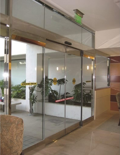 Commercial Glass Entry Sliding Automatic Doors Besam Sl500 Cgl