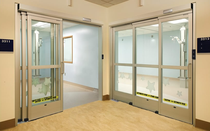 Touchless sliding icu automatic doors besam versamax