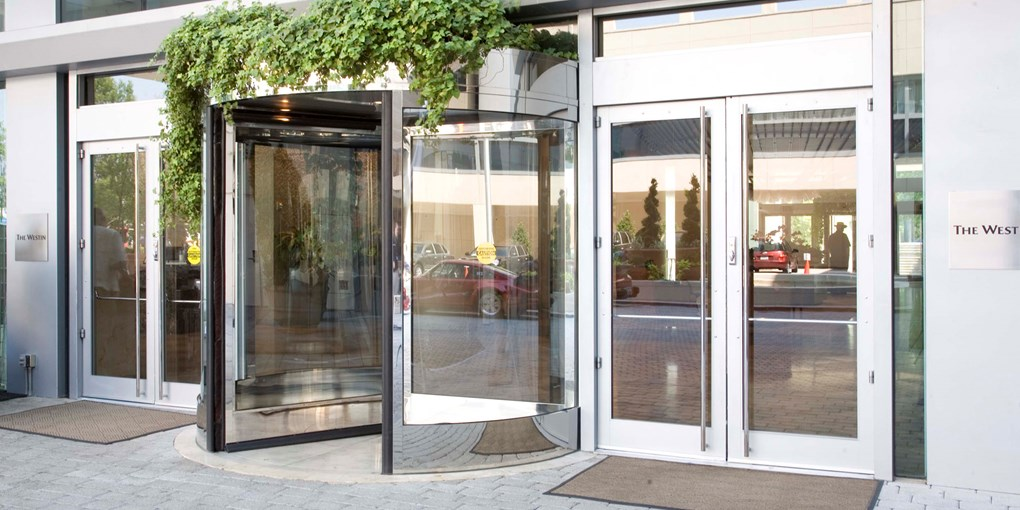 Besam RD Series Three- and Four-Wing Compact Revolving Doors & Compact High Capacity Revolving Automatic Doors | Besam RD Series ...